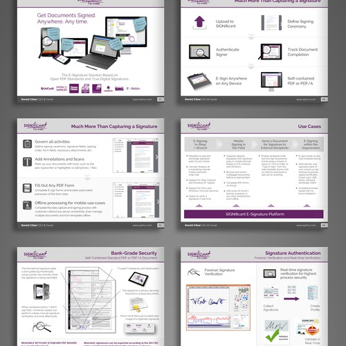 Powerpoint template including a sample presentation