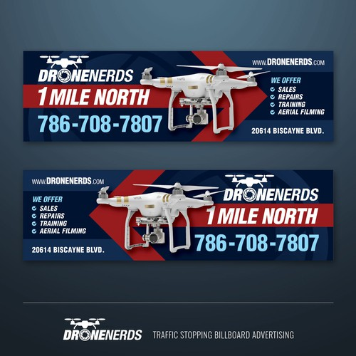 traffic stopping billboard advertising for DRONENERDS