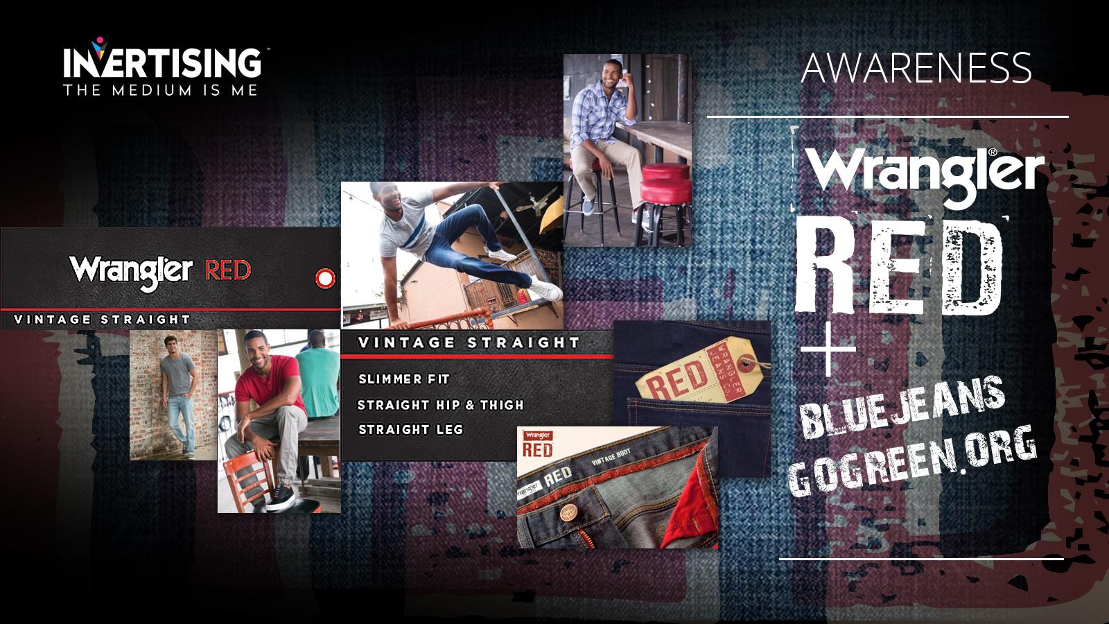 Wrangler Red  + Bluejeansgogreen campaign