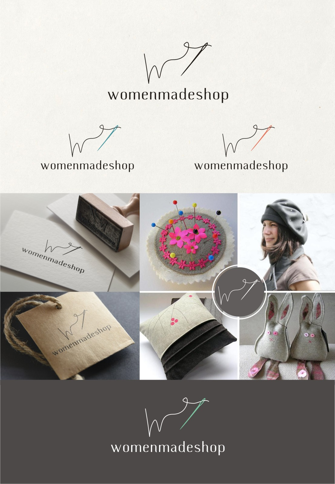 Create a logo for a unique shop that sells products from women all over the world.