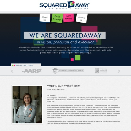 Design the website for Squared Away Productions
