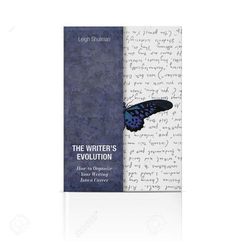 "Concept for Book cover ""The writer's evolution"""