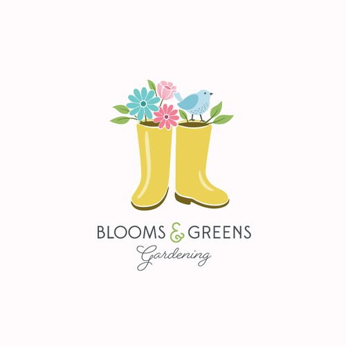 Feminine logo for a small gardening company