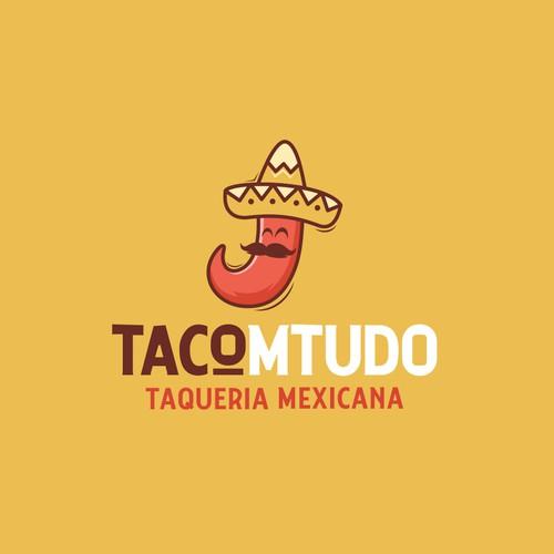 Tacomtudo logo design.