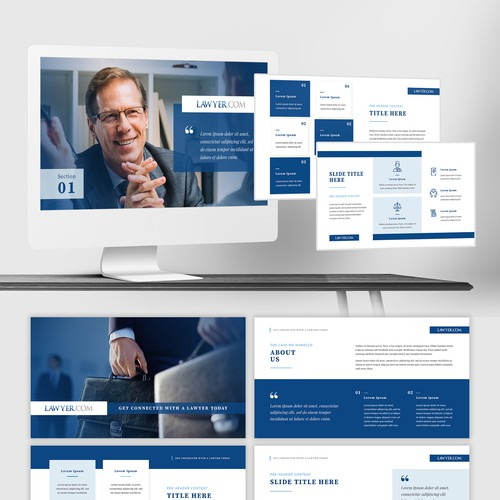 Business Pitch Deck for Lawyer.com