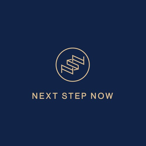 Fun and luxurious logo for Next Step Now
