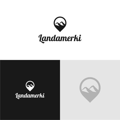 Landamerki Logo
