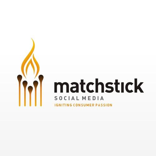 Logo concept for Matchstick Social Media