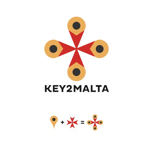 Logo for a site/App about Malta