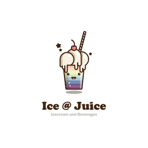 ice cream + juice place logo