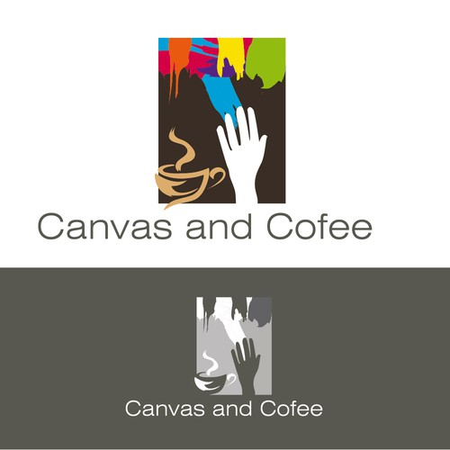 An opportunity to get really creative!  Design an iconic logo for a new social painting cafe.