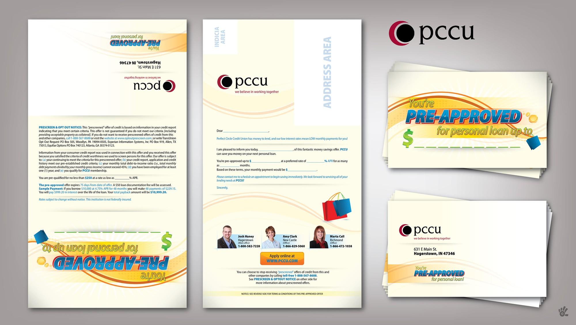 Create the next Tri-Fold Postcard Mailer for PCCU