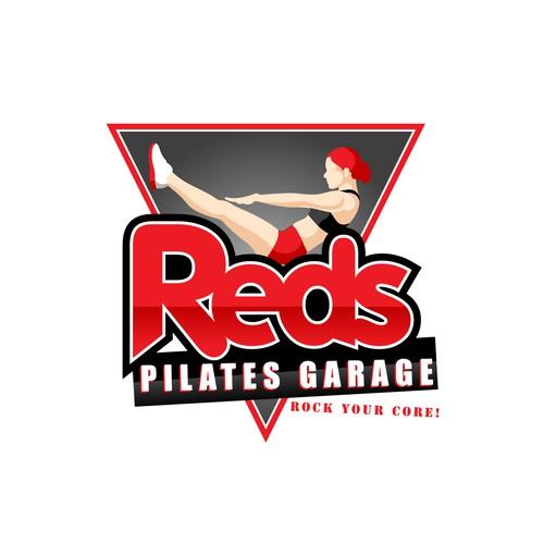 Logo design for Reds Pilates Garage.