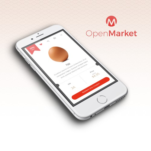 Flat Design App for Supermarket Chain