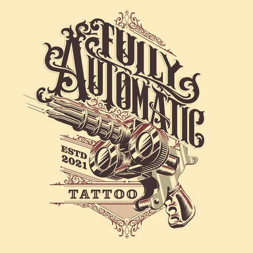 Vintage Style Logo for Tattoo Shop