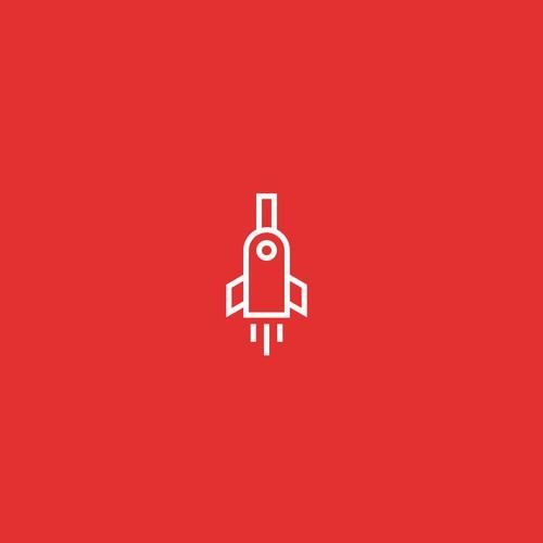 Bottle rocket logo