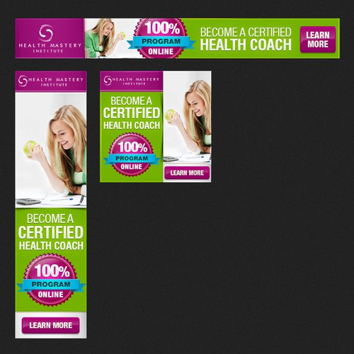 DESIGN EYE CATCHING BANNER AD FOR NUTRITION SCHOOL