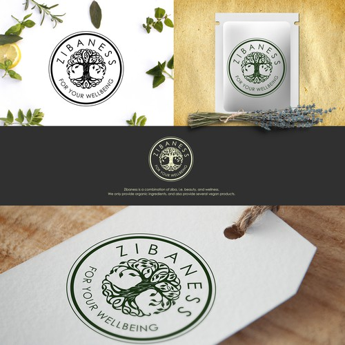 Logo for herb and cosmetics online distribution startup