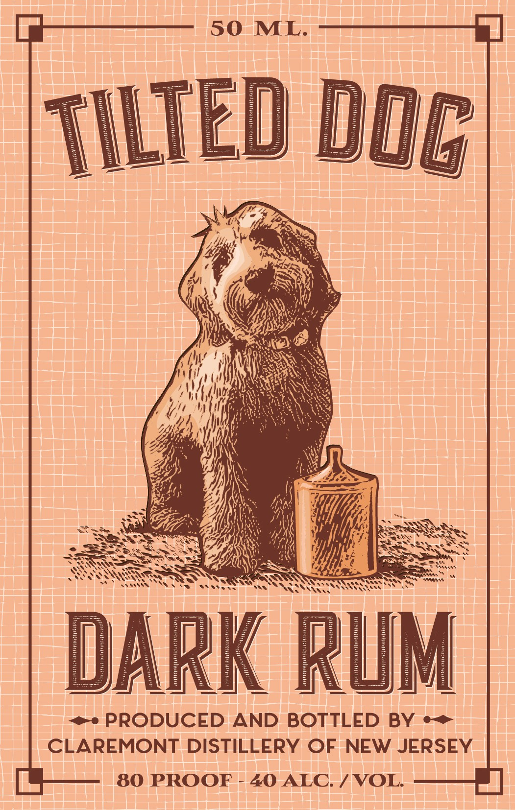 Create the Label for Twisted Dog Dark Rum