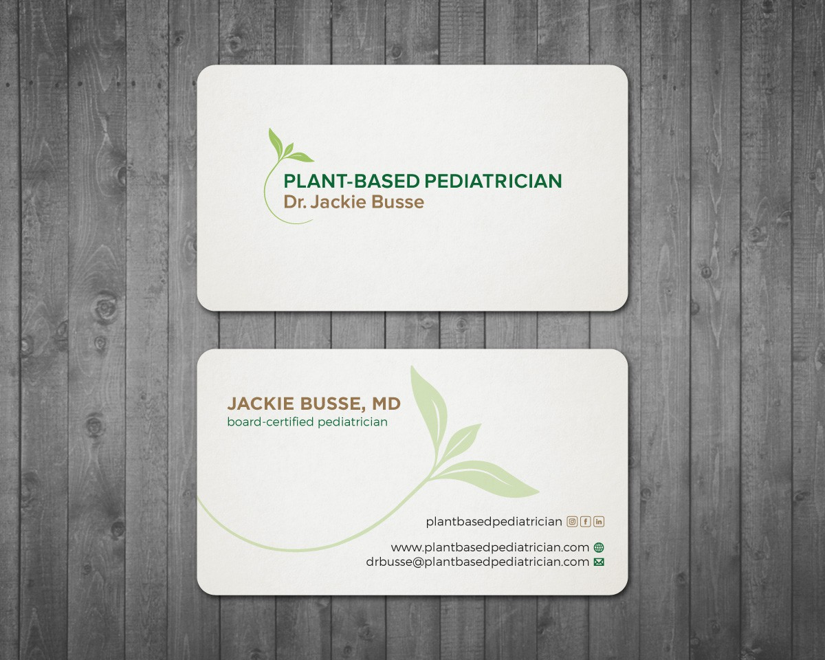 Business card for young pediatrician branching out