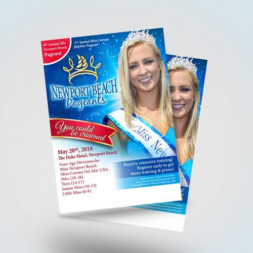 Flyer design for Miss Newport Beach