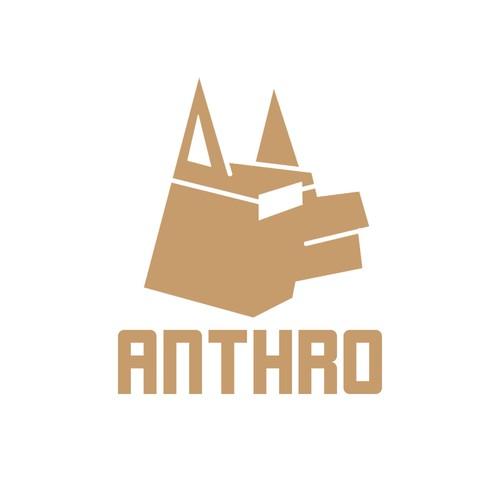 Logo concept with simplistic dog