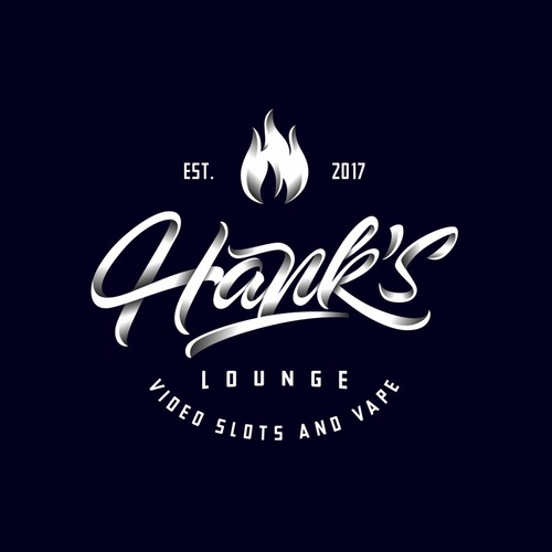 concept logo for hank's lounge