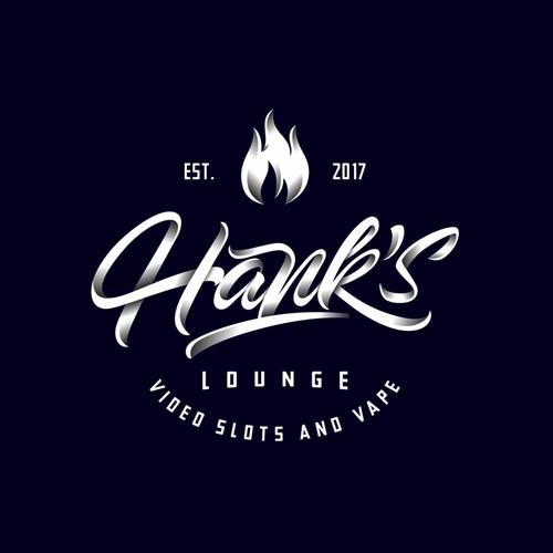 concept logo for hank's lounge