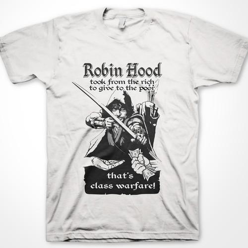 Robin Hood t-shirt design for Cheeky Cheeky Threads (contemporary)