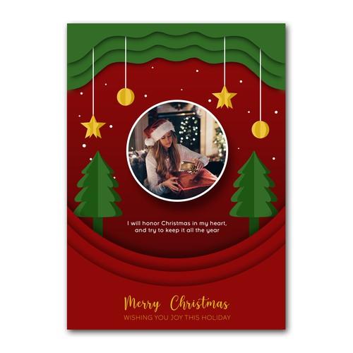 Christmas Greeting Card Concept