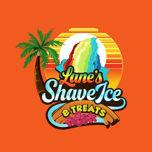 Logo for a shaved ice cream truck