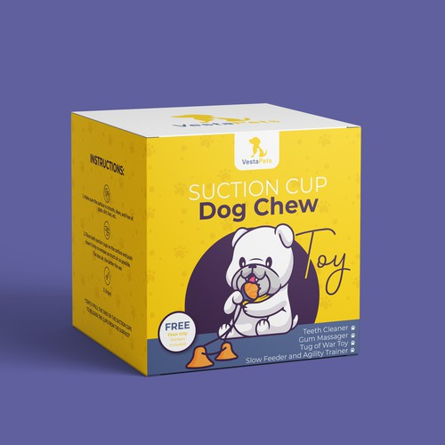 Package design for Suction Cup Dog Chew Toy