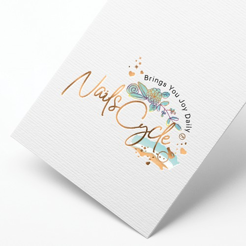 Elegant & Colorful Logo Design for Nails Cycle