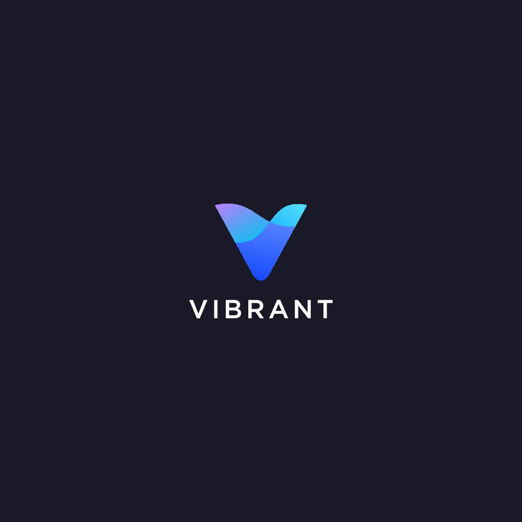 Design an abstract, yet simple logo for Vibrant