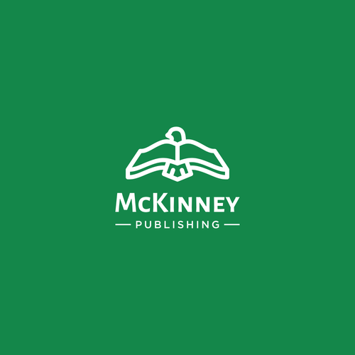Uplifting logo for self publishing company: McKinney Publishing