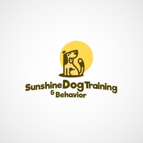 Trained dog, happy dog.