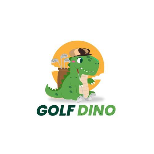 dino golf logo