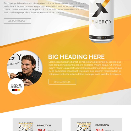 Stylish shop & website for an ENERGY DRINK!