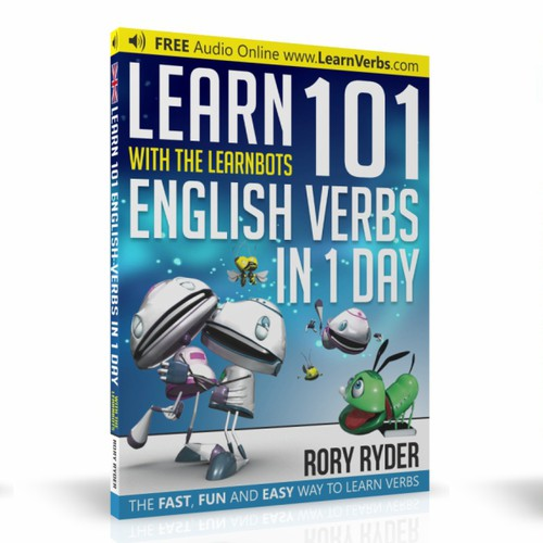 Book cover design for Learn 101 verbs in a day