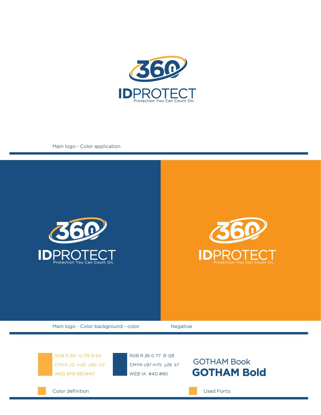 Identity theft product logo that stands out