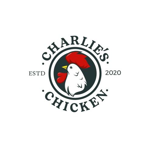 concepto logo charlies chicken