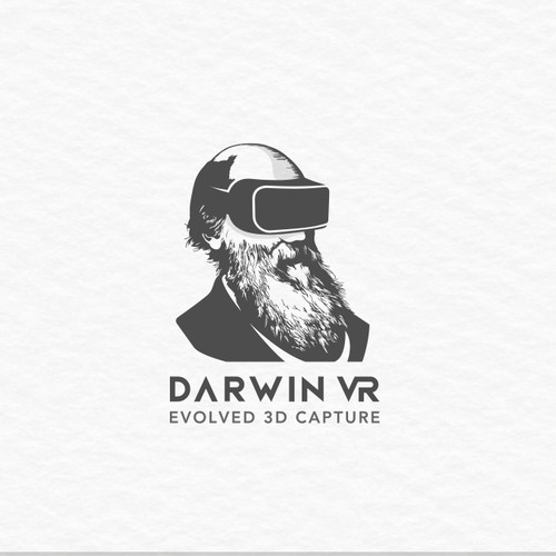 Minimal and Unique logo design for DARWIN VR company
