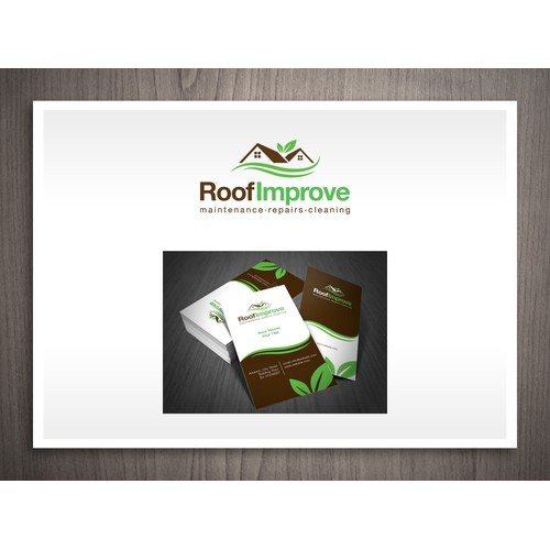 RoofImprove Logo and business card preview