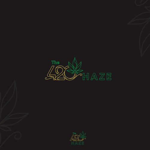 Brand logo for a Print On Demand website centered around marijuana