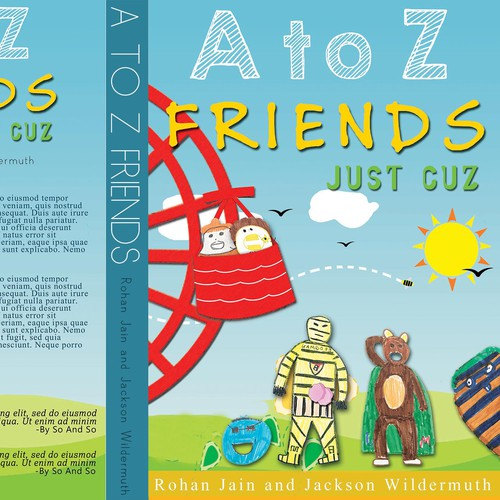 Create a winning design for soon to be the best selling childrens book, A to Z Friends!