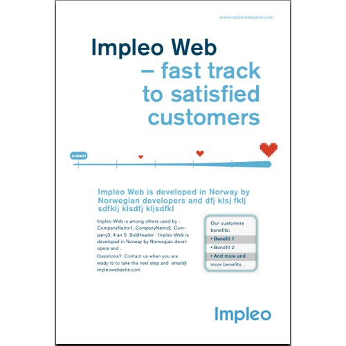 Print ad for Impleo