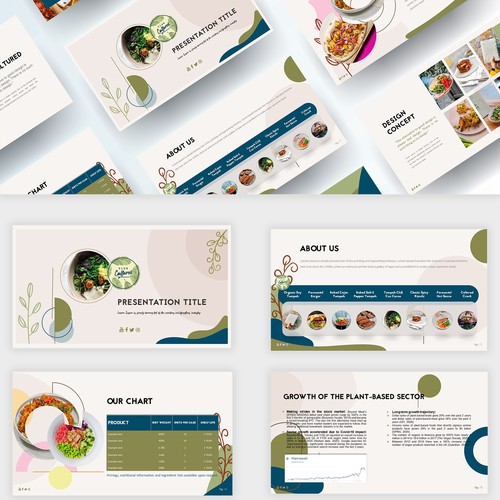 Food Powerpoint Template design