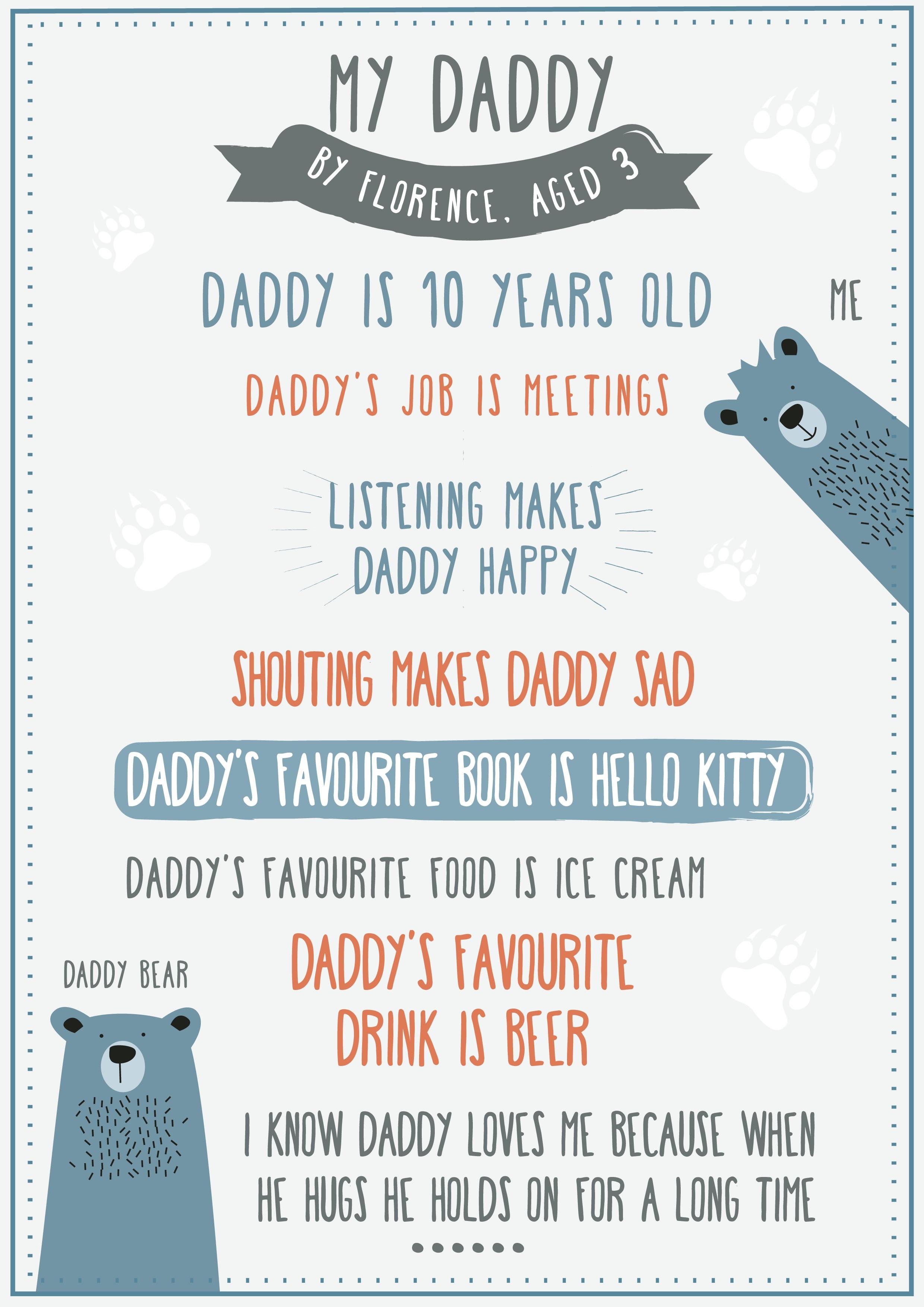 Create a modern Fathers Day print