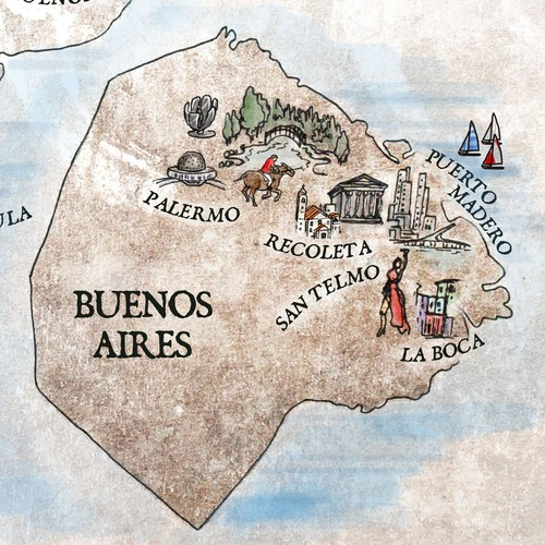 Argentina & Buenos Aires Travel Map