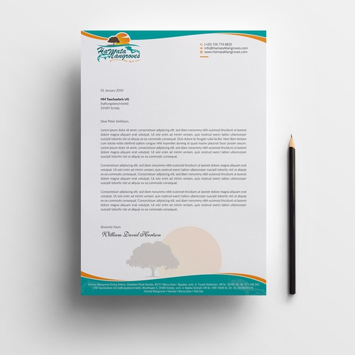 Letterhead design for Hamata Mangroves